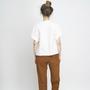 Jf aw18 lookbook emily shirt white macondo trousers ochre 2