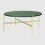 Coffee Table TS mit Messinggestell 80cm von Gubi