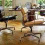 Stuhl Eames Aluminium Chair Leder Vitra