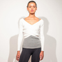 Crossed Knit Top von lola studio