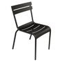 Fermob Luxembourg Stuhl  Lakritze / Schwarz 42,  Stuhl ohne Armlehnen