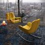 Indoor Lounge Schaukel-Ohrensessel Leya
