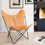 Butterfly Chair in Sattelleder