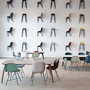 Stuhl Beetle Dining mit Metallfüssen im 4er Set