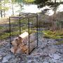 Everydaydesign firewoodholder black outdoors2 press