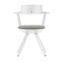 Artek Stuhl 'Rival Chair'  Weiss,  3D-Strick - Schwarz/Weiss