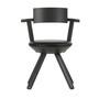 Artek Stuhl 'Rival Chair'  Asphalt,  Leder - Nero