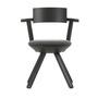Artek Stuhl 'Rival Chair'  Asphalt,  3D-Strick - Schwarz/Weiss