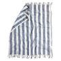 Naughty linen boho beach towel blue