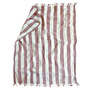 Naughty linen boho beach towel red