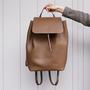 10 yoshiki leder rucksack braun
