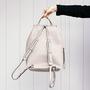 12 yoshiki leder rucksack grau