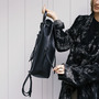 14 yoshiki leder rucksack schwarz
