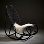 Sika nanny rocking chair matt black 2