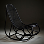 Sika nanny rocking chair matt black 4