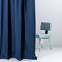 Zigzagzurich vorhang blau