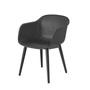 Fiber chair woodbase black wb medium