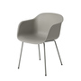 Fiber chair tubebase grey