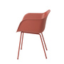 Fiber chair tubebase dusty red front side whitebg