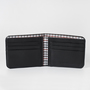 3 men wallet black open
