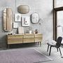 Framed mirrors reflect sideboard lean lamp ply rose visu lounge umami 743 med res