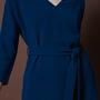 Frauenbekleidung kleider viskose blau liz petrol 2
