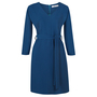Frauenbekleidung kleider viskose blau liz petrol 4