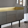 Punt stockholm sideboard oak darkgrey gold 3 2