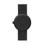 D38 black case black leather strap tube watch leff amsterdam design by piet hein eek back 1