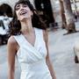 Frauenbekleidung kleider viskose weiss leila daisywhite 2 1
