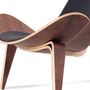 Ch07 shell chair hans wegner leather platinum replica 10
