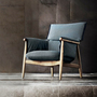 Eoos embrace lounge chair charcoal grey oak frame in room carl hansen and son 1024x1024