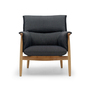 Eoos embrace lounge chair charcoal grey with oak frame carl hansen and son 1024x1024