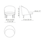 Jules fabric armchair arflex 230839 dima9403e0b