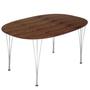 Table series super elliptical span legs walnut top fritz hansen